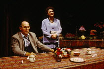 THE TIME OF MY LIFE written & directed by Alan Ayckbourn design: Roger Glossop lighting: Mick Hughes Anton Rogers (Gerry Stratton), Gwen Taylor (Laura Stratton) Vaudeville Theatre, London WC2  03/08/1...