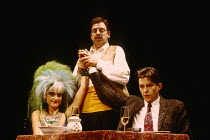 THE TIME OF MY LIFE written & directed by Alan Ayckbourn design: Roger Glossop lighting: Mick Hughes l-r: Sophie Heyman (Maureen), Terence Booth (Waiter), Stephen Mapes (Adam Stratton)Vaudeville Theat...