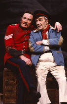 SERJEANT MUSGRAVE'S DANCE by John Arden music: John Tams design: Di Seymour lighting: Rory Dempster dances by Madeleine Hollis & Pat Tracey director: Albert Finney   l-r: Albert Finney (Serjeant Musgr...