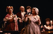 NICHOLAS NICKLEBY adapted by David Edgar from the novel by Charles Dickens design: John Napier & Dermot Hayes lighting: David Hersey directors: Trevor Nunn & John Caird l-r: Lila Kaye (Mrs Crummles),...