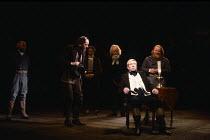 NICHOLAS NICKLEBY adapted by David Edgar from the novel by Charles Dickens design: John Napier & Dermot Hayes lighting: David Hersey directors: Trevor Nunn & John Caird centre, l-r: Clyde Pollitt (Bro...