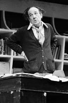 JUMPERS   by Tom Stoppard   set design: Patrick Robertson   costumes: Rosemary Vercoe   lighting: Robert Bryan   director: Peter Wood  Michael Hordern (George Moore)National Theatre / Old Vic Theatre,...