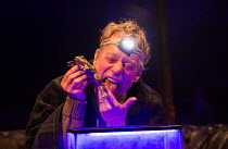 Stephen Boxer (Gerry) in RAISING MARTHA by David Spicer opening at the Park Theatre, Finsbury Park, London N4 on 17/01/2017   design: Rebecca Brower lighting: Eliot Griggs director: Michael Fentiman...