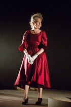Stella Gonet (Lady Hasi) in IN THE DEPTHS OF DEAD LOVE by Howard Barker opening at the Coronet Print Room, London W11 on 19/01/2017 ~~design: Justin Nardella lighting: Adrian Sandvaer director: Gerrar...
