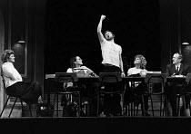 TEN TIMES TABLE written & directed by Alan Ayckbourn design: Patrick Robertson lighting: Leonard Tucker l-r: Julia McKenzie (Helen), Diane Bull (Phillipa), John Salthouse (Eric), Stephanie Fayerman (S...