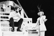 OWNERS by Caryl Churchill design: Mark Thompson lighting: Paul Denby director: Annie Castledine   Mike Kenny (Alec), Lucinda Curtis (Marion) The Young Vic, London SE1  06/04/1987...