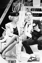 OWNERS by Caryl Churchill design: Mark Thompson lighting: Paul Denby director: Annie Castledine ~~Lucinda Curtis (Marion), Loudon Wainwright III (Worsely)~The Young Vic, London SE1  06/04/1987...
