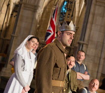 Rhys Bevan (Henry V) in HENRY V by Shakespeare opening at Southwark Cathedral, London SE1 on 03/02/2017   an Antic Disposition production design: John Risebero directors: John Risebero & Ben Horslen...