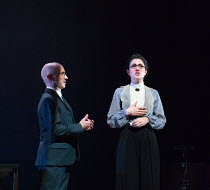 Robert Beyer, Eva Meckbach in BEWARE OF PITY (Ungeduld des Herzens) by Stefan Zweig opening at the Barbican Theatre, London EC2 on 09/02/2017   a Complicite & Schaubuhne Berlin co-production adapted b...