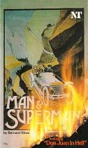 MAN AND SUPERMAN by G B Shaw set design: Ralph Koltai costumes: David Walker lighting: Joe Davis director: Christopher Morahan  Olivier Theatre, National Theatre, London SE1  22/01/1981  programme cov...