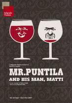 MR PUNTILA AND HIS MAN MATTI by Bertolt Brecht design: Gregory Smith lighting: Arnim Friess director: Hamish Glen Belgrade Theatre, Coventry  22/09/2007   programme coverphoto set: digital, uploaded...