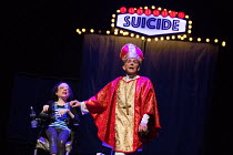 ASSISTED SUICIDE The Musical by Liz Carr and the company  composer: Ian Hill director : Mark Whitelaw   Liz Carr,David James an In Company Collective / We Are Unlimited production / Royal Festival Hal...