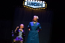 ASSISTED SUICIDE The Musical by Liz Carr and the company  composer: Ian Hill director : Mark Whitelaw   l-r: Liz Carr, Claire Willoughby  an In Company Collective / We Are Unlimited production / Royal...