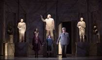 l-r: Sophie Bevan (Hermione), Zach Roberts (Mamillius), Iain Paterson (Leontes) in THE WINTER'S TALE opening at English National Opera (ENO), London Coliseum, London WC2 on 27/02/2017 after Shakespear...