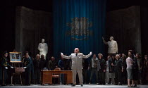 centre: Iain Paterson (Leontes) in THE WINTER'S TALE opening at English National Opera (ENO), London Coliseum, London WC2 on 27/02/2017   after Shakespeare's play music, libretto & conductor: Ryan Wig...