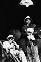 THE GOOD WOMAN OF SETZUAN ( GOOD PERSON OF SZECHWAN ) by Bertolt Brecht design: Sally Gardner lighting: Phil Rowe director: Keith Hack  Janet Suzman (Shen Te), Fred Pearson (The Policeman)  Royal Co...