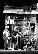 THE GOOD PERSON OF SICHUAN by Bertolt Brecht design: Sue Blane lighting: Jean Kalman director: Deborah Warner front centre: Fiona Shaw (Shen Te) top left: Bill Stewart (The Husband)LO-RES FOR REFERENC...
