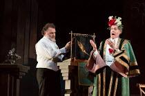 l-r: Bryn Terfel (Hans Sachs), Johannes Martin Kranzle (Sixtus Beckmesser) in DIE MEISTERSINGER VON NURNBERG (The Mastersingers) by Wagner opening at The Royal Opera, Covent Garden, London WC2 on 11/0...