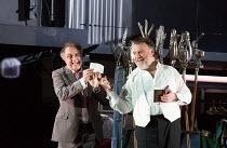 l-r: Johannes Martin Kranzle (Sixtus Beckmesser), Bryn Terfel (Hans Sachs) in DIE MEISTERSINGER VON NURNBERG (The Mastersingers) by Wagner opening at The Royal Opera, Covent Garden, London WC2 on 11/0...