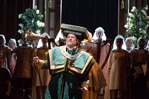 the contest: Bryn Terfel (Hans Sachs) in DIE MEISTERSINGER VON NURNBERG (The Mastersingers) by Wagner opening at The Royal Opera, Covent Garden, London WC2 on 11/03/2017 conductor: Antonio Pappano   s...