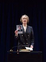 Penny Layden (Britannia) in MY COUNTRY; A Work in Progress by Carol Ann Duffy opening in the Dorfman Theatre, National Theatre (NT), London SE1 on 10/03/2017   in collaboration with the Citizens Theat...
