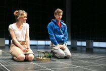 Niamh Cusack (Siobhan), Luke Treadaway (Christopher Boone) in THE CURIOUS INCIDENT OF THE DOG IN THE NIGHT-TIME by Simon Stephens opened at the Apollo Theatre, London W1 on 12/03/2013   a National The...
