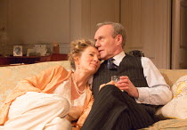 Eve Best (Olivia Brown), Anthony Head (Sir John Fletcher) in LOVE IN IDLENESS by Terence Rattigan opening at the Menier Chocolate Factory, London SE1 on 20/03/2017  design: Stephen Brimson-Lewis light...