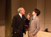 l-r: Anthony Head (Sir John Fletcher), Edward Bluemel (Michael Brown) in LOVE IN IDLENESS by Terence Rattigan opening at the Menier Chocolate Factory, London SE1 on 20/03/2017  design: Stephen Brimson...