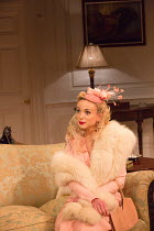 Helen George (Diana Fletcher) in LOVE IN IDLENESS by Terence Rattigan opening at the Menier Chocolate Factory, London SE1 on 20/03/2017  design: Stephen Brimson-Lewis lighting: Paul Pyant director: Tr...