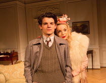 Edward Bluemel (Michael Brown), Helen George (Diana Fletcher) in LOVE IN IDLENESS by Terence Rattigan opening at the Menier Chocolate Factory, London SE1 on 20/03/2017  design: Stephen Brimson-Lewis l...