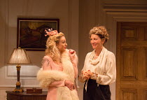 l-r: Helen George (Diana Fletcher), Eve Best (Olivia Brown) in LOVE IN IDLENESS by Terence Rattigan opening at the Menier Chocolate Factory, London SE1 on 20/03/2017  design: Stephen Brimson-Lewis lig...