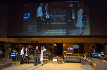ROMAN TRAGEDIES - ANTONY AND CLEOPATRA adapted from Shakespeare set design and lighting: Jan Versweyveld costumes: Lies van Assche video: Tal Yarden director: Ivo van Hove   l-r: Bart Slegers (Enobarb...
