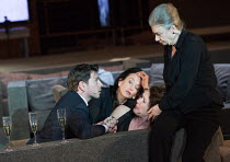 ROMAN TRAGEDIES - ANTONY AND CLEOPATRA adapted from Shakespeare set design and lighting: Jan Versweyveld costumes: Lies van Assche video: Tal Yarden director: Ivo van Hove   l-r: Alwin Pulinckx (Dolab...