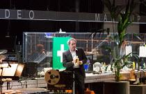 ROMAN TRAGEDIES - CORIOLANUS adapted from Shakespeare set design and lighting: Jan Versweyveld costumes: Lies van Assche video: Tal Yarden director: Ivo van Hove   relaxing between scenes: Gijs Scholt...