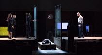 ROMAN TRAGEDIES - ANTONY AND CLEOPATRA adapted from Shakespeare set design and lighting: Jan Versweyveld costumes: Lies van Assche video: Tal Yarden director: Ivo van Hove   staring at Antony's body -...