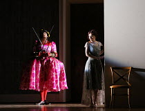 Matthew Durkan (Ormonte), Sarah Tynan (Partenope) in PARTENOPE by Handel opening at English National Opera (ENO), London Coliseum WC2 on 15/03/2017   libretto: Silvio Stampiglia   English translation:...