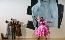 l-r: Sarah Tynan (Partenope), James Laing (Armindo),  Stephanie Windsor-Lewis (Rosmira/Eurimene), Matthew Durkan (Ormonte) in PARTENOPE by Handel opening at English National Opera (ENO), London Colise...