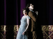 Sarah Tynan (Partenope), James Laing (Armindo) in PARTENOPE by Handel opening at English National Opera (ENO), London Coliseum WC2 on 15/03/2017   libretto: Silvio Stampiglia   English translation: Am...