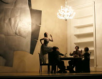 closing moments - left: Sarah Tynan (Partenope) in PARTENOPE by Handel opening at English National Opera (ENO), London Coliseum WC2 on 15/03/2017   libretto: Silvio Stampiglia   English translation: A...