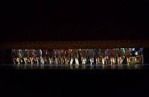 opening image, tap dancing feet in 42nd STREET opening at the Theatre Royal Drury Lane, London WC2 on 04/04/2017  book: Michael Stewart & Mark Bramble music: Harry Warren lyrics: Al Dubin set design:...