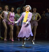 Clare Halse (Peggy Sawyer) in 42nd STREET opening at the Theatre Royal Drury Lane, London WC2 on 04/04/2017 book: Michael Stewart & Mark Bramble music: Harry Warren lyrics: Al Dubin set design: Dougla...