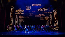 centre: Clare Halse (Peggy Sawyer), Stuart Neal (Billy Lawlor) in 42nd STREET opening at the Theatre Royal Drury Lane, London WC2 on 04/04/2017 book: Michael Stewart & Mark Bramble music: Harry Warren...
