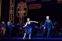 Clare Halse (Peggy Sawyer), Stuart Neal (Billy Lawlor) in 42nd STREET opening at the Theatre Royal Drury Lane, London WC2 on 04/04/2017  book: Michael Stewart & Mark Bramble music: Harry Warren lyrics...