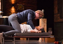 Damian Lewis (Martin), Sophie Okonedo (Stevie) in THE GOAT, OR WHO IS SYLVIA? by Edward Albee opening at the Theatre Royal Haymarket, London SW1 on 05/04/2017 design: Rae Smith lighting: Neil Austin d...