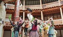 ROMEU & JULIETA based on ROMEO AND JULIET by Shakespeare conceived & directed by Garbriel Villela   centre, held aloft: Eduardo Moreira (Romeu / Romeo) Grupo Galpao street theatre (Brazil) / Shakes...