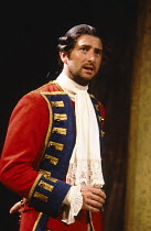 THE RECRUITING OFFICER by George Farquhar design: Peter Hartwell lighting: Andy Phillips director: Max Stafford-Clark   Julian Wadham (Captain Plume) Royal Court Theatre, London SW1  10/08/1989 (C) Do...