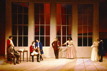 THE RECRUITING OFFICER by George Farquhar design: Ashley Martin-Davis  lighting: Paul Pyant director: Nicholas Hytner l-r: David Ross (Mr Balance), Desmond Barrit (Captain Brazen), Alex Jennings (Capt...