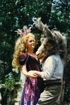 A MIDSUMMER NIGHT'S DREAM  by Shakespeare  design: David Knapman  lighting: Jason Taylor  director: Rachel Kavanaugh   Serena Evans (Titania), Ian Talbot (Bottom) Open Air Theatre (OAT), Regent's Park...