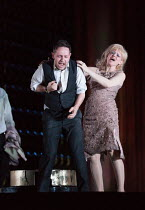 Iestyn Davies (Francisco de Avila), Sally Matthews (Silvia de Avila) in THE EXTERMINATING ANGEL by Thomas Ades opening at The Royal Opera, Covent Garden, London WC2 on 24/04/2017 ~music: Thomas Ades l...