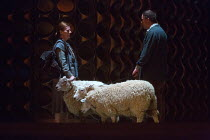 live sheep on stage with their handlers in THE EXTERMINATING ANGEL by Thomas Ades opening at The Royal Opera, Covent Garden, London WC2 on 24/04/2017   music: Thomas Ades libretto: Tom Cairns & Thoma...